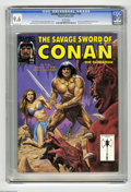 Magazines:Miscellaneous, Savage Sword of Conan #198 (Marvel, 1992) CGC NM+ 9.6 White pages.Bob Larkin cover. John Buscema art. King Kull backup feat...