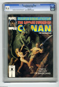 Magazines:Miscellaneous, Savage Sword of Conan #204 (Marvel, 1992) CGC NM+ 9.6 White pages.Alan Rabinowitz cover. John Buscema, Ernie Chan, and Ovi ...