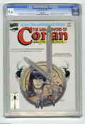 Magazines:Miscellaneous, Savage Sword of Conan #207 (Marvel, 1993) CGC NM+ 9.6 White pages.Alfredo Alcala pin-up. Red Sonja back-up story. Mike Kalu...