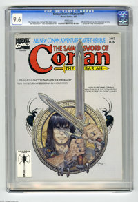 Savage Sword of Conan #207 (Marvel, 1993) CGC NM+ 9.6 White pages. Alfredo Alcala pin-up. Red Sonja back-up story. Mike...