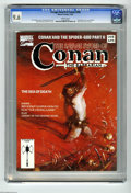 Magazines:Miscellaneous, Savage Sword of Conan #208 (Marvel, 1993) CGC NM+ 9.6 White pages.Fred Harper pin-up portfolio. Red Sonja back-up story. Ge...