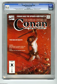 Savage Sword of Conan #208 (Marvel, 1993) CGC NM+ 9.6 White pages. Fred Harper pin-up portfolio. Red Sonja back-up story...
