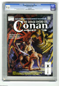 Magazines:Miscellaneous, Savage Sword of Conan #210 (Marvel, 1993) CGC NM+ 9.6 White pages.Red Sonja pin-ups and story. Vince Evans cover. John Busc...