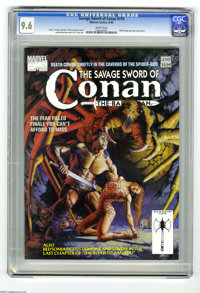 Savage Sword of Conan #210 (Marvel, 1993) CGC NM+ 9.6 White pages. Red Sonja pin-ups and story. Vince Evans cover. John...