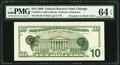 Error Notes:Third Printing on Reverse, Fr. 2034-G $10 1999 Federal Reserve Note. PMG Choice Uncirculated 64 EPQ.. ...