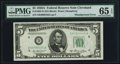 Error Notes:Skewed Reverse Printing, Fr. 1962-D $5 1950A Federal Reserve Note. PMG Gem Uncirculated 65EPQ.. ...