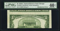 Error Notes:Skewed Reverse Printing, Fr. 1962-G $5 1950A Federal Reserve Note. PMG Extremely Fine 40EPQ.. ...
