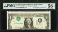 Error Notes:Inverted Third Printings, Fr. 1915-F $1 1988A Federal Reserve Note. PMG Choice About Unc 58EPQ.. ...