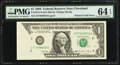 Error Notes:Foldovers, Fr. 1914-D $1 1988 Federal Reserve Note. PMG Choice Uncirculated 64EPQ.. ...