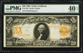 Large Size:Gold Certificates, Fr. 1186 $20 1906 Gold Certificate PMG Extremely Fine 40 EPQ.. ...