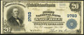 National Bank Notes:Maryland, Snow Hill, MD - $20 1902 Plain Back Fr. 652 The First NB Ch. #3783. ...