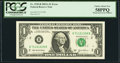 Fr. 1930-B $1 2003A Federal Reserve Note. PCGS Choice About New 58PPQ