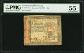 Colonial Notes:Continental Congress Issues, Continental Currency January 14, 1779 $65 PMG About Uncirculated55.. ...