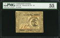 Colonial Notes:Continental Congress Issues, Continental Currency February 26, 1777 $3 PMG About Uncirculated55.. ...