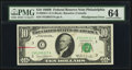 Error Notes:Skewed Reverse Printing, Fr. 2020-C $10 1969B Federal Reserve Note. PMG Choice Uncirculated64.. ...