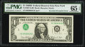 Error Notes:Inverted Third Printings, Fr. 1907-B $1 1969D Federal Reserve Note. PMG Gem Uncirculated 65EPQ.. ...