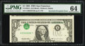 Error Notes:Inverted Third Printings, Fr. 1922-L $1 1995 Federal Reserve Note. PMG Choice Uncirculated64.. ...