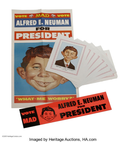 Memorabiliacomic related alfred e neuman for president kit with mini
