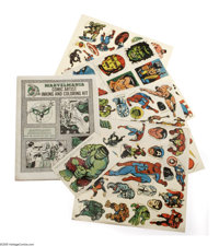 "Marvel Comic Artist Kit and Decals Set (Magazine Management Co., 1969). Featured is a ""Marvelmania Comic Artist Ink..."