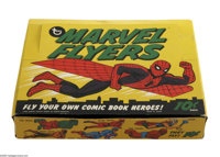 Box of Marvel Flyers (Topps, 1966). This is a 12-count store display box, full of Marvel Flyers glider toys. Included ar...