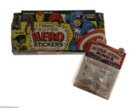 "Marvel Hero Stickers and Ring (1967). Included here are 48 assorted ""Marvel Super Hero Stickers,"" originally s..."