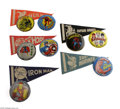 Memorabilia:Comic-Related, Marvel Pennants and Buttons Group (Marvel Comics Group, 1966). Featured are five 4 x 8 1/2-inch felt pennants featuring the ...