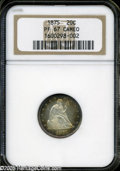 Proof Twenty Cent Pieces: , 1875 20C Cameo PR67 Cameo NGC. An awe-inspiring example of thispremier Twenty Cent issue, one with a misleadingly high pro...