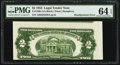 Error Notes:Skewed Reverse Printing, Fr. 1509 $2 1953 Legal Tender Note. PMG Choice Uncirculated 64EPQ.. ...
