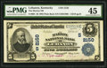 National Bank Notes:Kentucky, Lebanon, KY - $5 1902 Plain Back Fr. 605 The Marion NB Ch. #(S)2150. ...
