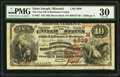 National Bank Notes:Missouri, Saint Joseph, MO - $10 1882 Brown Back Fr. 487 The First NB ofBuchanan County Ch. # (M)4939. ...