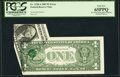 Error Notes:Foldovers, Fr. 1928-A $1 2003 Federal Reserve Note. PCGS Gem New 65PPQ.. ...