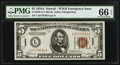Small Size:World War II Emergency Notes, Fr. 2302 $5 1934A Hawaii Federal Reserve Note. PMG Gem Uncirculated66 EPQ.. ...