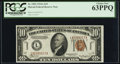 Small Size:World War II Emergency Notes, Fr. 2303 $10 1934A Hawaii Federal Reserve Note. PCGS Choic...