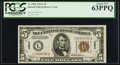Small Size:World War II Emergency Notes, Fr. 2302 $5 1934A Hawaii Federal Reserve Note. PCGS Choice...