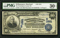 National Bank Notes:Maryland, Williamsport, MD - $10 1902 Plain Back Fr. 625 The WashingtonCounty NB Ch. # (E)1551. ...