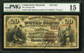National Bank Notes:Maryland, Cumberland, MD - $20 1882 Brown Back Fr. 504 The Citizens NB Ch. #5332. ...