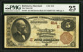National Bank Notes:Maryland, Baltimore, MD - $5 1882 Brown Back Fr. 467 The Third NB Ch. #(E)814. ...