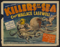 "Movie Posters:Documentary, Killers of the Sea (Grand National, 1937). Half Sheet (22"" X 28""). This documentary focuses on the police chief of Panama Ci..."