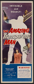 "Movie Posters:Science Fiction, The Amazing Transparent Man (Miller-Consolidated Pictures, 1959). Insert (14"" X 36""). Horror. Starring Marguerite Chapman, D..."
