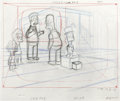 Animation Art:Production Drawing, The Simpsons - Homer, Bart, and Lisa Simpson, Ned, Rod, and ToddFlanders Drawing Original Art, Group of 5 (Fox, 2000-2001)....(Total: 5 Items)