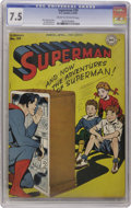 Golden Age (1938-1955):Superhero, Superman #39 (DC, 1946) CGC VF- 7.5 Cream to off-white pages. If you thought a radio was as low-tech as it gets, have a look...