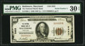 National Bank Notes:Maryland, Baltimore, MD - $100 1929 Ty. 1 The National Marine Bank Ch. #2453. ...