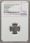 1662 2PENCE Oak Tree Twopence, Small 2 -- Repaired -- NGC Details. VF. Noe-30, Salmon 1-A, R.4