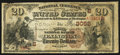 National Bank Notes:Kentucky, Lexington, KY - $20 1882 Brown Back Fr. 494 The Third NB Ch. #(S)3052. ...