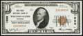 National Bank Notes:Wisconsin, Wisconsin Rapids, WI - $10 1929 Ty. 1 The First NB Ch. # 1998. ...
