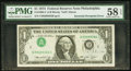 Error Notes:Inverted Third Printings, Fr. 1908-C $1 1974 Federal Reserve Note. PMG Choice About Unc 58EPQ.. ...