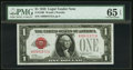 Small Size:Legal Tender Notes, Low Serial Number A00001572A Fr. 1500 $1 1928 Legal Tender Note. PMG Gem Uncirculated 65 EPQ.. ...