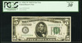 Fr. 1950-C* $5 1928 Federal Reserve Note. PCGS Very Fine 30