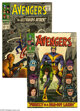 The Avengers #30 and 36 Group (Marvel, 1966-67) Condition: Average VF. Include are #30 (cover by Jack Kirby, art by Don...