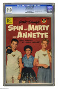 Silver Age (1956-1969):Adventure, Four Color #826 Spin and Marty and Annette -- File Copy (Dell, 1957) CGC VF/NM 9.0 Off-white to white pages. Annette Funicel...